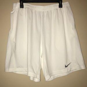 Nike White Dri-Fit Shorts